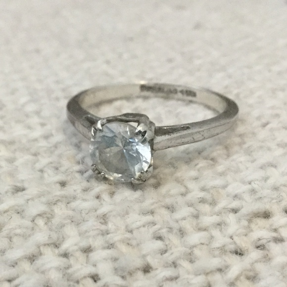 Jewelry Vintage Sterling Silver Engagement Ring Poshmark